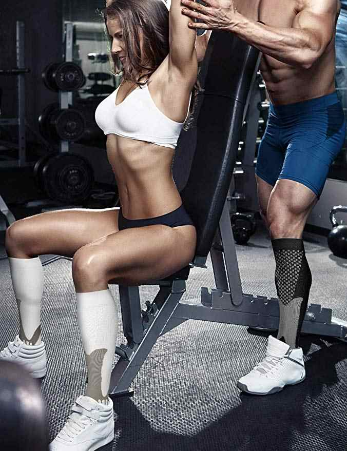 44 Stijlen Mannen Vrouwen Compressie Sokken Fit Voor Sport Zwart Compressie Sokken Anti Vermoeidheid Pijnbestrijding Knie Hoge Kousen 1 paar