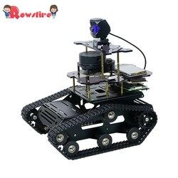 DIY Smart Roboter Tank Chassis Auto mit Laser Radar für Raspberry Pi 4 (2G)-Schwarz