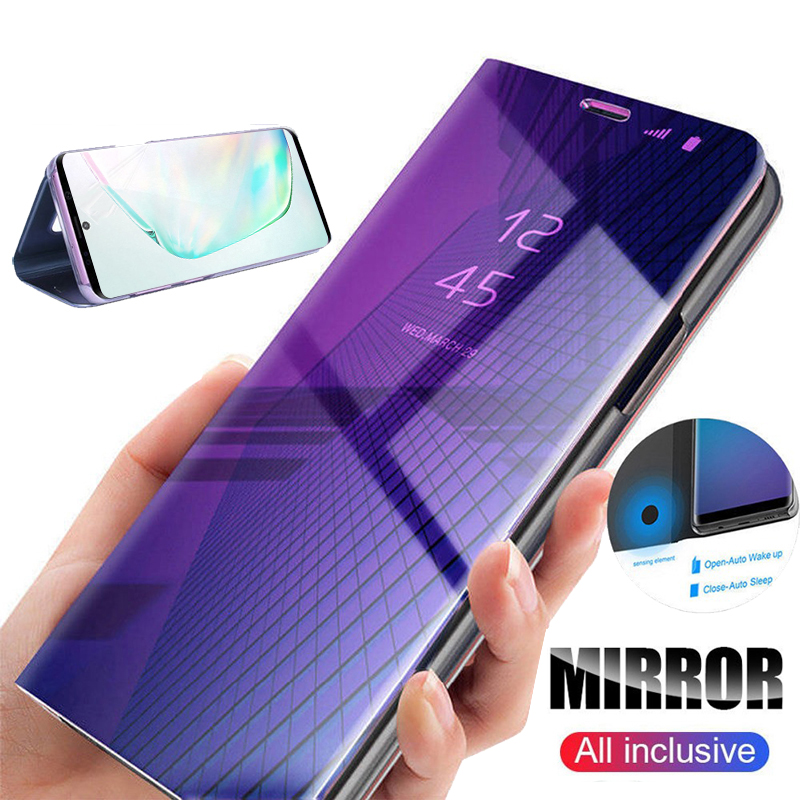 Smart Mirror Flip Phone Case on For Samsung Galaxy M30s A30S A50S A70S A20S A10s Back Covers For Samsun Note 10 Plus A 30s M 30S image