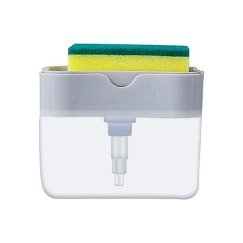 2-in-1sponge Rack Soap Dispenser Soap Dispenser And Sponge Caddy 13 Ounces Holder Storage Rack Box Set Storage Sponge Soap 1