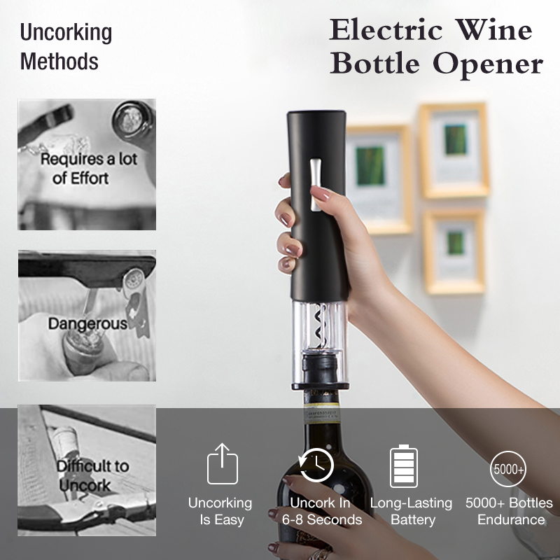 Automatic Bottle Opener for Red Wine Foil Cutter Electric Red Wine Openers Jar Opener Kitchen Accessories Gadgets Bottle Opener