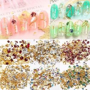 Crown 3D Nail Jewelry Alloy Nail Mixed Rhinestone Hollow Rivet Gemstone Charm Metal Frame Nail Art Nail Sequins Nail Accessories