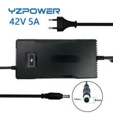 YZPOWER Cargador de batería de iones de litio de batería Li ion, CC 10S, 42V, 5A, 36V, fuente de alimentación rápida Tipo de Escritorio, EU/US/AU/UK AC DC