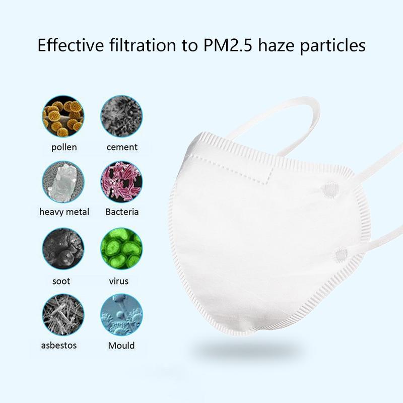 10-200 Pcs KN95 Mask Anti Pollution PM2.5 Mouth Mask Dust Respirator Masks Cotton Unisex N95 Mask Mouth Muffle Dropship