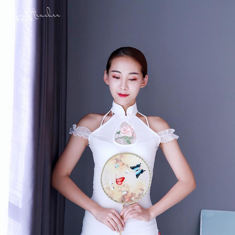 Belly Dance Training Suit Orient Dance Performance Uniforms Women Cheongsam Sdance Suit Long Dress Group Stage Performance 121