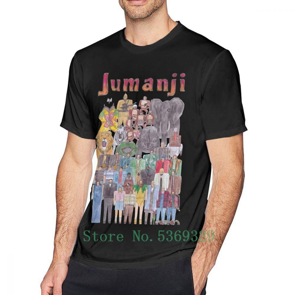 Jumanji T Shirt Jumanji Team Illustration T Shirt Men Tee Shirt Printed Cotton Short Sleeves cotton t-shirt brand tee shirt men