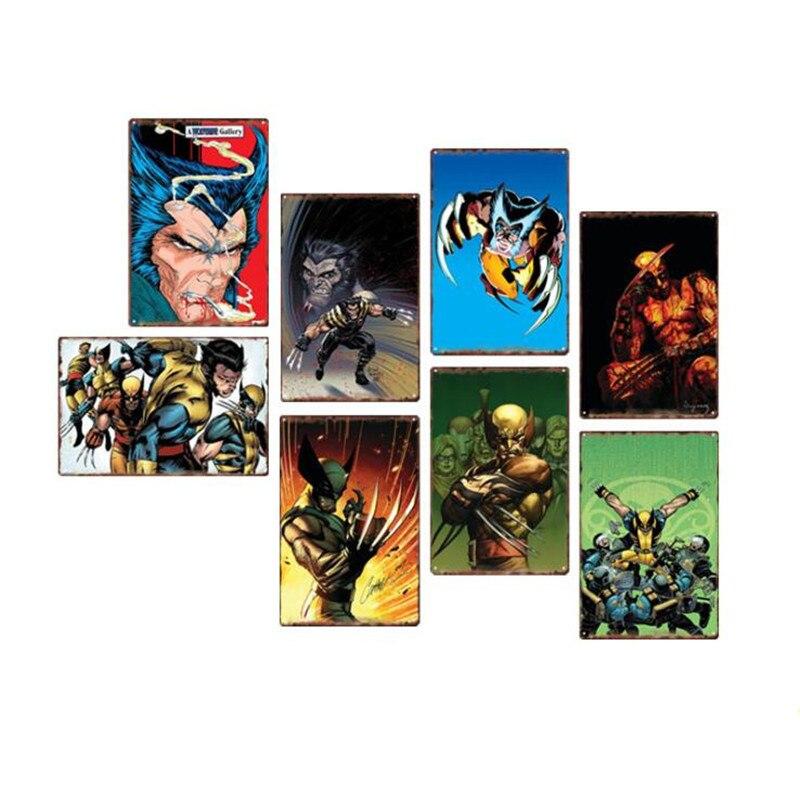 VINTAGE RETRO STYLE METAL TIN SIGN POSTER DC COMICS BATMAN 3 SHOP CAVE WALL HOME