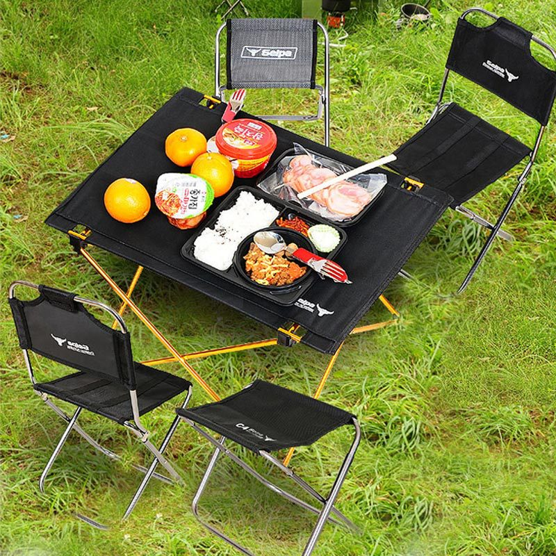 Outdoor Camping Small Folding Table Air Portable Aluminum Alloy Picnic Furniture Barbecue Ultralight
