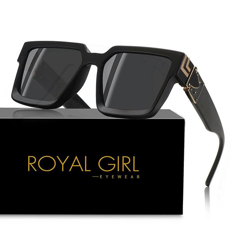 ROYAL MÄDCHEN 2020 Neue Quadrat Mode Sonnenbrillen Marke Designer Kunststoff Metall Rahmen Unisex Sonnenbrille ss359