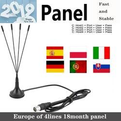 2019 volle HD Cam 4 linien panel 1 Jahr für Europa spanien portugal ect