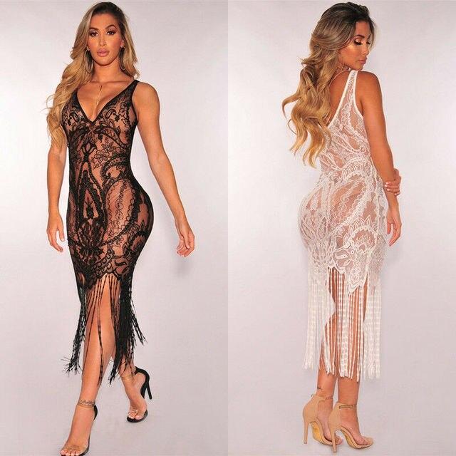 Hot Unique See Through Party Sheath Dress 2