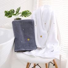 Star Month ręcznik kąpielowy gruby do prysznica łazienki 100 bawełna zwykły kolor domowe spa ręczniki dla dorosłych dzieci Handtuch 70*140cm Toallas tanie tanio Prostokąt Dobby 400g Drukuj Drukowane Bath-19101102 5 s-10 s Sprężone Quick-dry Można prać w pralce Tkane Star Month