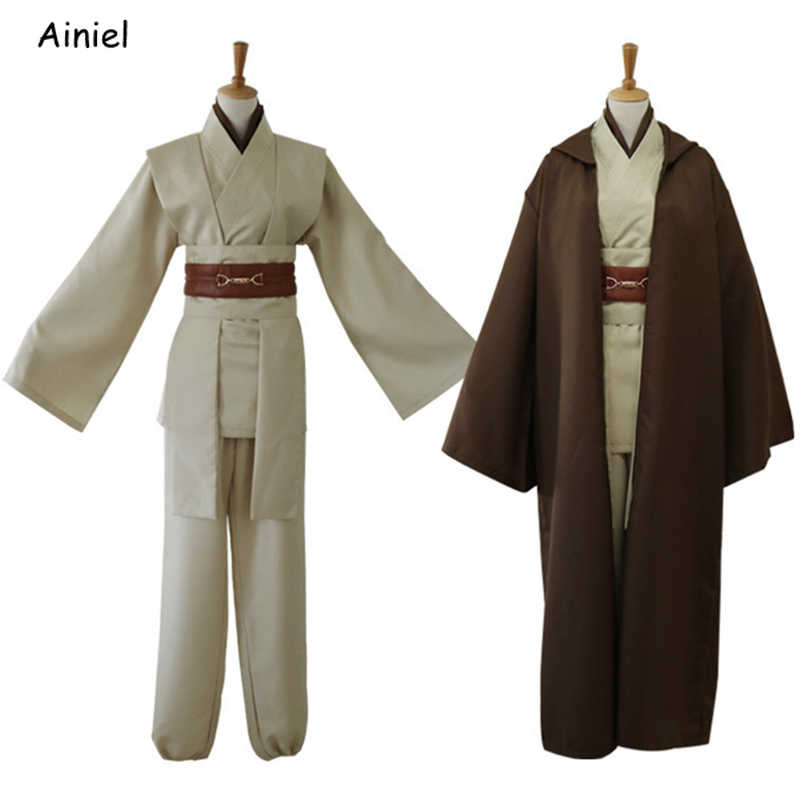 Star Wars 9 Jedi Knight Cosplay Kostüm Keule Windu Uniform Obi Wan Kenobi Mantel Ahsoka Tano Halloween Party Männer Erwachsene