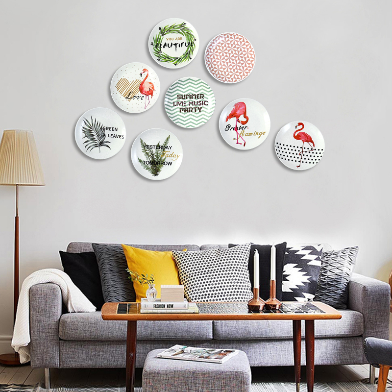 Modern Creative Ceramic Mural Hanging Plate Wall Decoration Crafts Furnishing Bedroom Dining Room Wall Decoration Bowls Plates Aliexpress