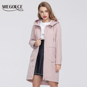Image 3 - MIEGOFCE manteau coupe vent en coton pour femmes, Trench, de styliste, avec col résistant, Trench chaud, nouveauté 2020
