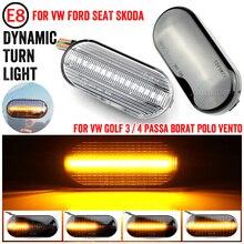 Dynamic Side Marker Light Side Signal Lights For SEAT Leon Ibiza 6L Ford Focus MK2 VW Golf 3 4 Lupo Passat Polo 6N 9N Bora