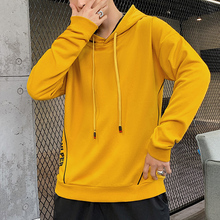 2019 Autumn Easy Trend Man Leisure Time Teenagers Student Even Hat Long Sleeve Cotton mens hoodies Chinese Style Black Yellow