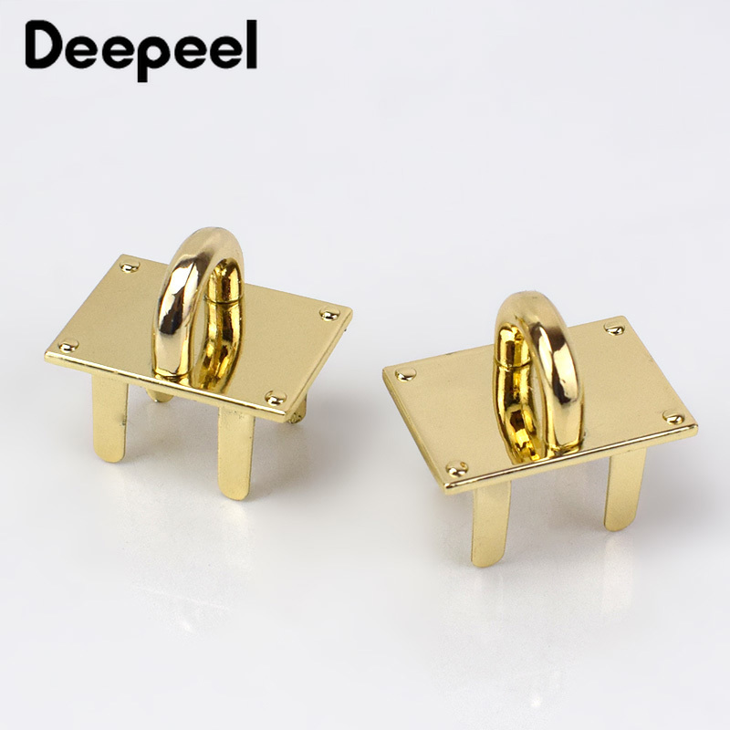 Deepeel 2/4pcs 30mm Golden Bag Clasp Buckle Metal Women  Luggage O Ring Hardware Crafts Pendant Base Decor Accessories AP613