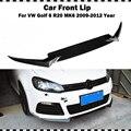 OSIR Стиль углеродного волокна переднего бампера губы для VW Golf 6 VI MK6 R20 бампер 2009 ~ 2012 CF Стайлинг передний спойлер 3 шт. (только подходит R20)