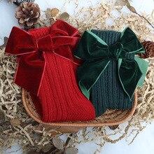 Leg-Warmers Christmas-Sock Long-Socks Children Woolen Toddler Baby-Girls Kids Cotton