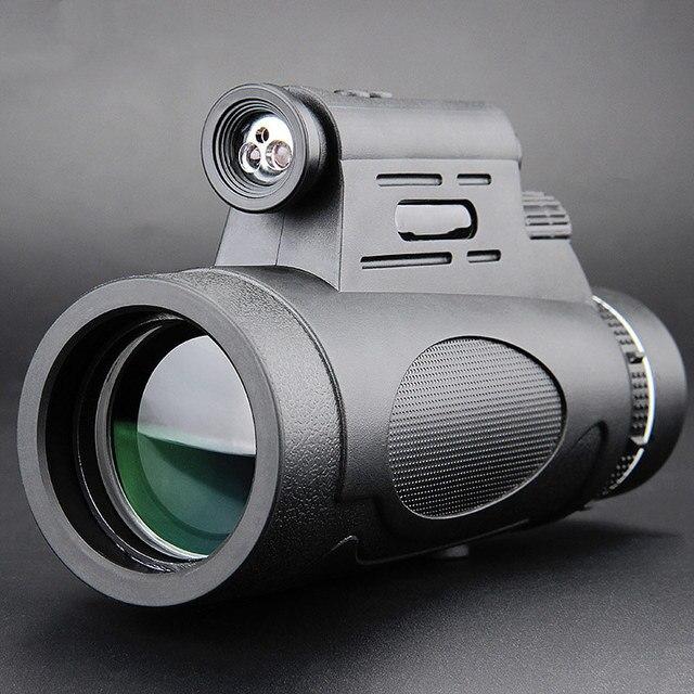 Télescope monoculaire professionnel, Vision nocturne, pour lobservation des oiseaux, accessoires dextérieur étanches, 12x50
