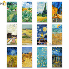 Nhdarc van gogh vertical pintura em tela giclee impressão van gogh coleção cartazes imagem da parede para sala de estar varanda decoração casa