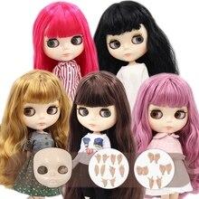 Buzlu DBS Blyth doll No.1 parlak yüz beyaz cilt ortak vücut 1/6 BJD özel fiyat OB24 oyuncak hediye