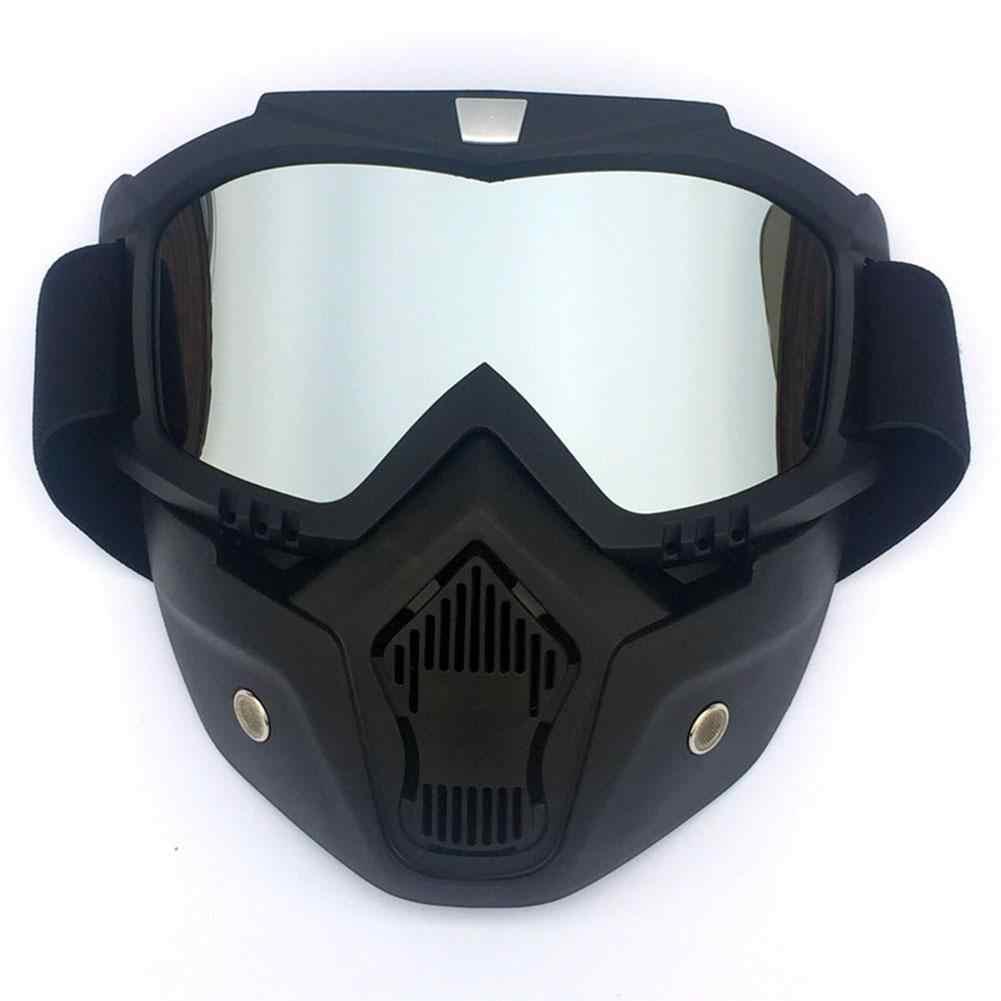 Kar kayak gözlüğü bisiklet kar araci gözlük maske Retro rüzgar geçirmez motokros güneş gözlüğü açık kayak Snowboard gözlük gözlük