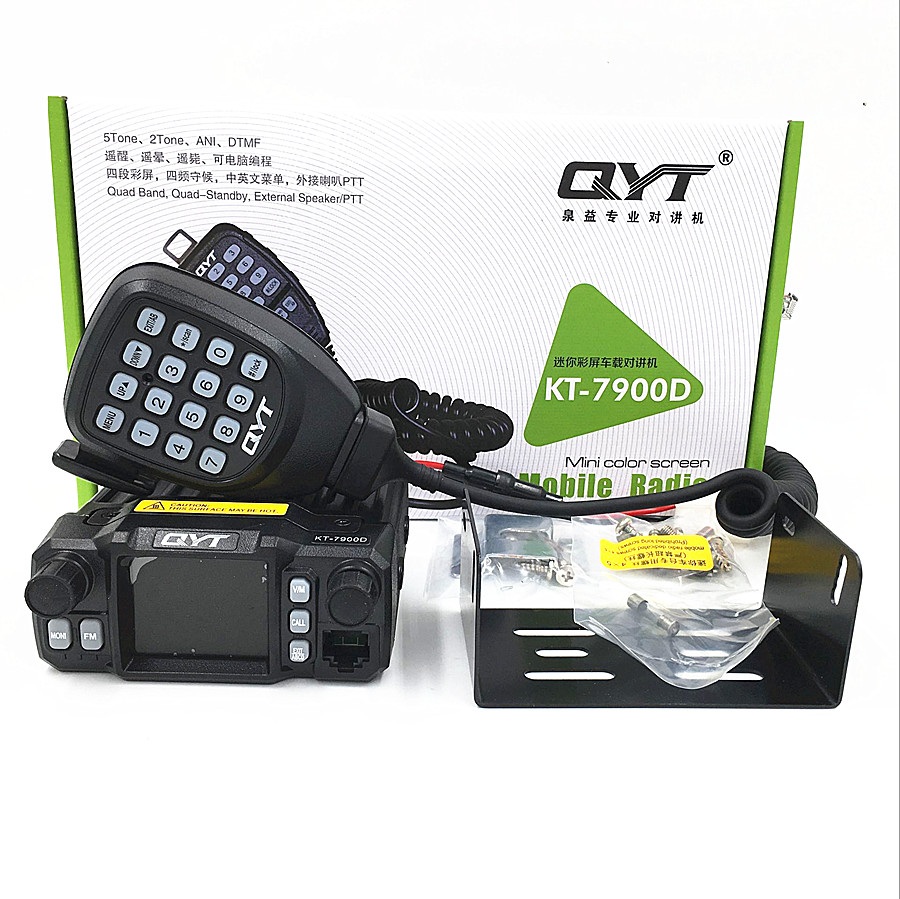 Image 5 - QYT KT 7900D 25W Quad band Mobile Radio transceiver 144/220/350/440MHZ 25W Ham Car Mobile Radio-in Walkie Talkie from Cellphones & Telecommunications