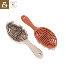 Mais novo youpin xinzhi relaxante massagem elástica pente portátil escova de cabelo escova de massagem anti estática escovas mágicas cabeça pentes
