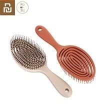最新 youpin xinzhi リラックスエラスティックマッサージコームポータブル毛のブラシのマッサージブラシ帯電防止マジックブラシ櫛