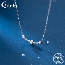 Ginin французский простота ряд Блестящий Циркон 925 пробы серебро