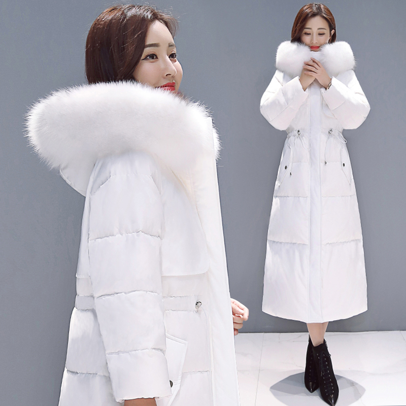 Winter Jacket Women Large Fox Fur Hooded Clothes 2019 Thick Warm Long 90% Duck Down Coat Women's Down Jacket Hiver LW1554