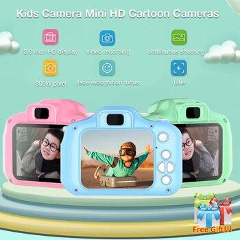 Mini cámara para niños juguetes educativos para niños regalos para bebés cumpleaños cámara digital de regalo 1080P cámara de vídeo de proyección