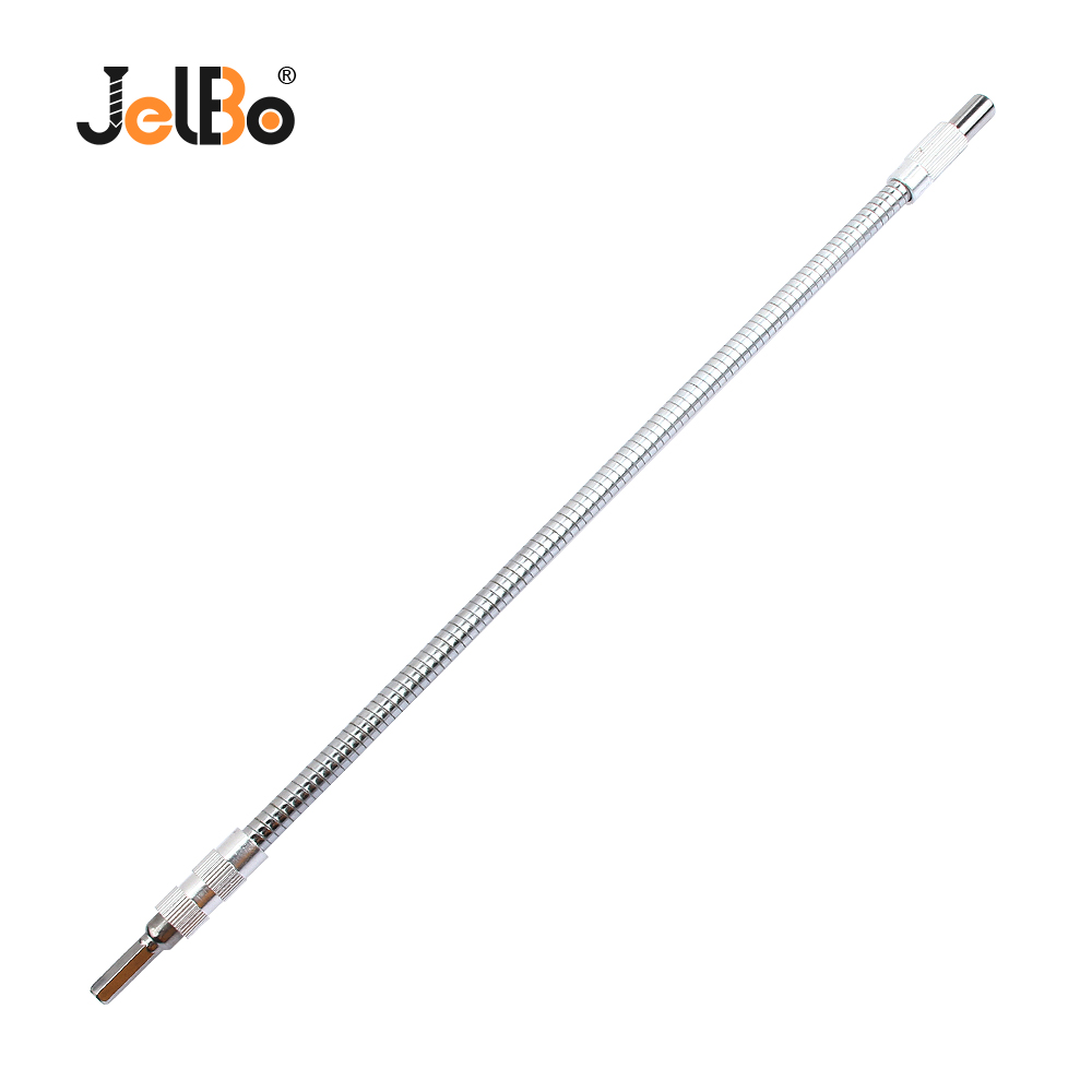 JelBo Metal Flexible Shaft Extention Screwdriver Bits Holder Universal Connect Link For Power Tools 150mm 200mm 300mm 400mm