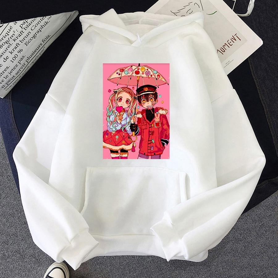 Jibaku Shounen Hanako kun Harajuku Womens Hoodie Fashion Fleece Hoodies Casual Clothes Street Loose Female Sweatshirt 32