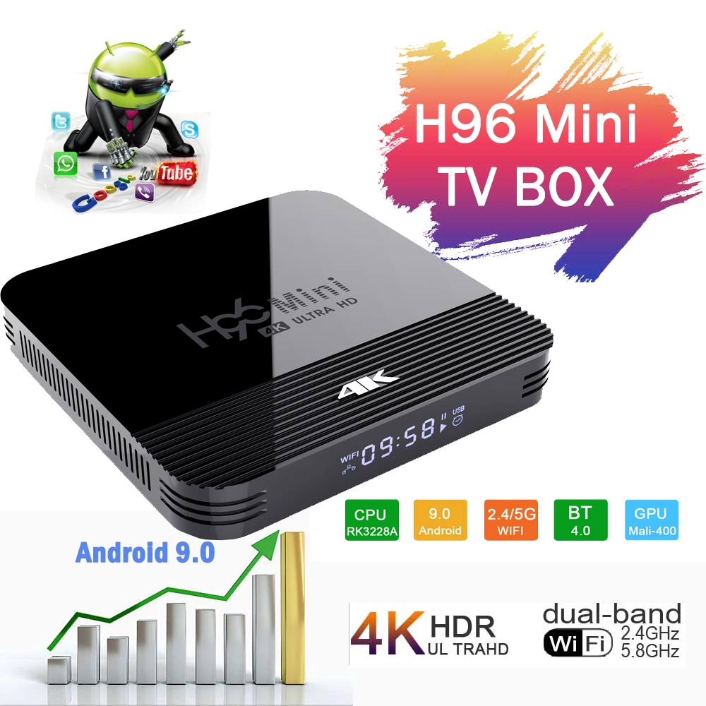 H96 Top-Box Netflix Wifi Tx3 Mini S905X3 Android 9.0 Amlogic 24fps 2gb16gb-Set 4GB 64GB title=