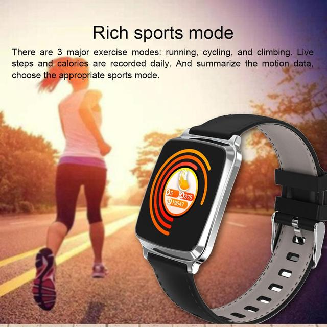Waterproof Fitness Watch With Leather Band