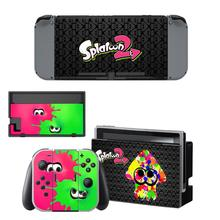 Nintend Swithc Skin vinyl Sticker Splatoon 2 Decal for Nintendo Switch Full Set Faceplate Stickers Console Joy-Con Dock