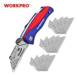 WORKPRO nóż składany nóż elektryk na przewód rurowy nóż bezpieczeństwa noże użytkowe 15PC dodatkowe ostrza w Noże od Narzędzia na