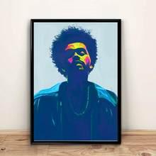 絵画weeknd盲目ライトstarboyラップミュージックアルバムポスタープリント壁アートキャンバス写真リビングベッドルームホームデコレーション