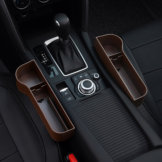 Car Seat Organizer Crevice Storage Box Car Organizer Gap Slit Filler Holder For Wallet Phone Slit Pocket Auto Car Accessories 4