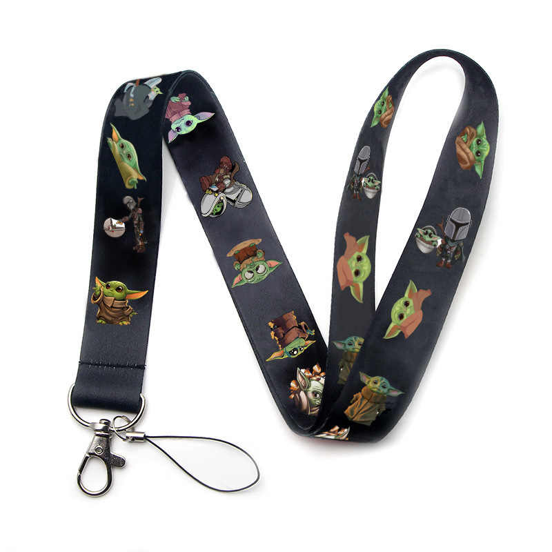 The Mandalorian Baby Yoda Neck Strap Lanyards For Keys ID Card Gym Mobile Phone Straps USB Badge Holder DIY Hang Rope Lariat