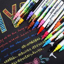 12/18 цветов акриловая краска маркер ручка Набор для DIY альбом стекло Керамика рок дерево 11UB