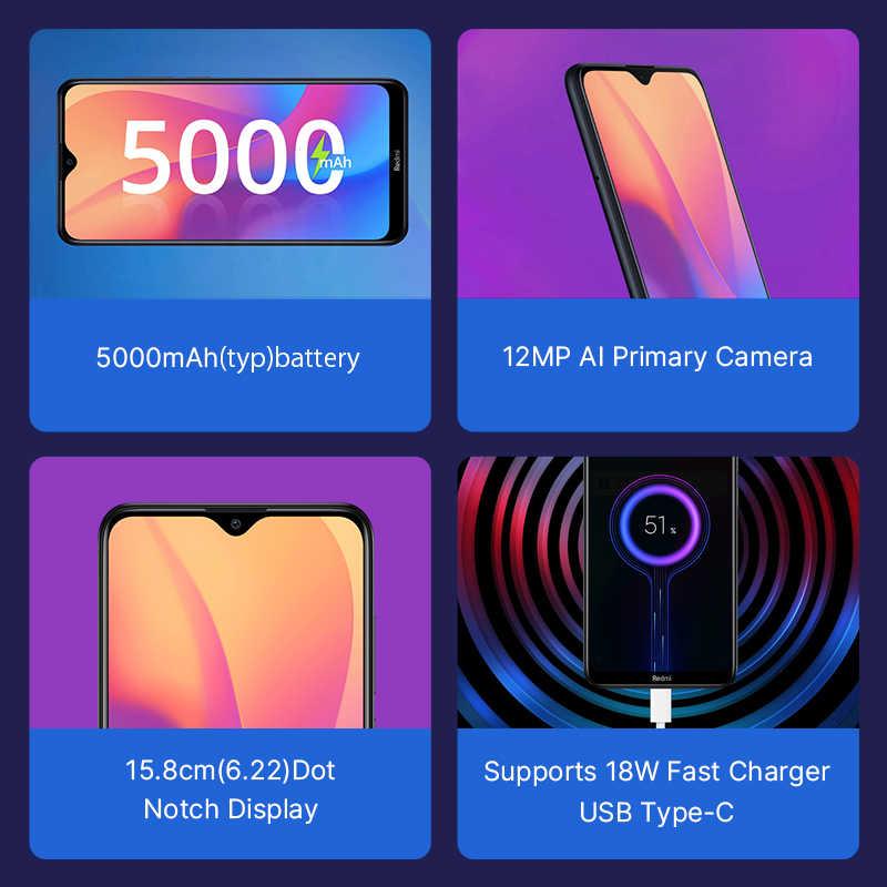"""الإصدار العالمي من الهاتف الذكي شاومي ريدمي 8 أ 2 جيجابايت 32 جيجابايت هاتف ذكي 6.22 """"سنابدارغون 439 ثماني النواة هاتف محمول 5000mAh 12MP + 8MP AI كاميرا"""