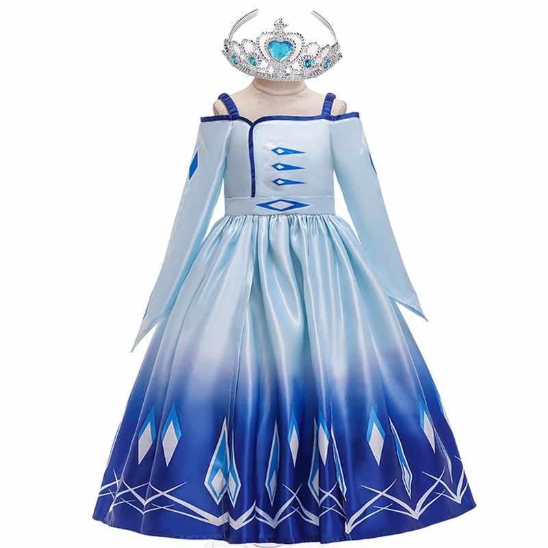 3 12y Adolescentes Chica Sueño Elsa Vestido De Los Niños Vestido De Fiesta De Cumpleaños Chica Formal De Las Muchachas Del Vestido De La Princesa