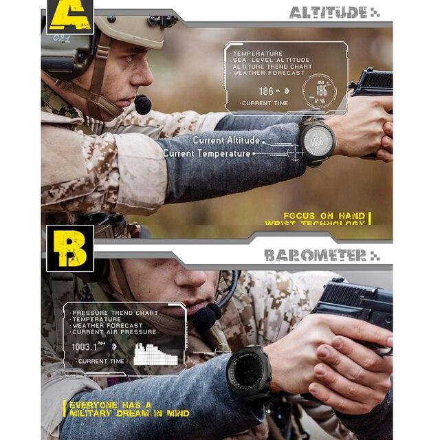 North Edge Men Sports Watches Waterproof 50M LED Digital Watch Men Military Compass Altitude Barometer 3