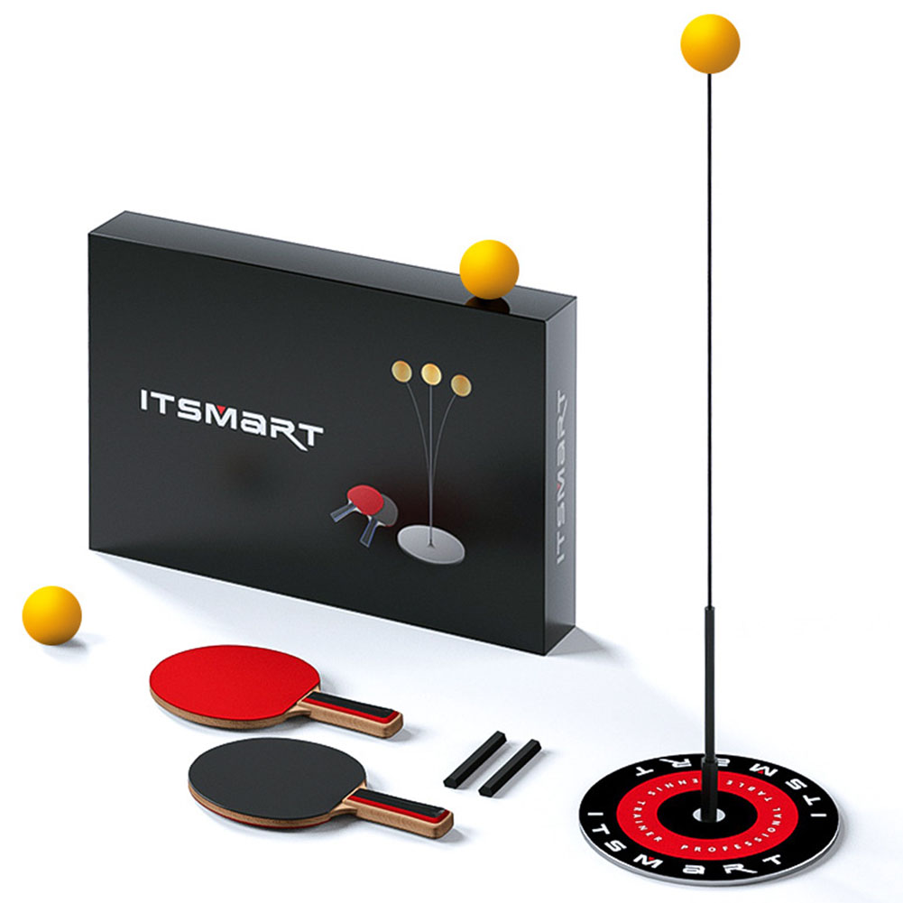 Quick Rebound Trainer Sport Shaft Decompression Paddle Indoor Outdoor Soft Wave Portable Pingpong Ball Table Tennis Set Leisure