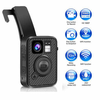 BOBLOV Wifi Police Camera F1 32GB Body Kamera 1440P Worn Cameras Law Enforcement 10H Recording GPS Night Vision Video recorder - DISCOUNT ITEM  25% OFF All Category