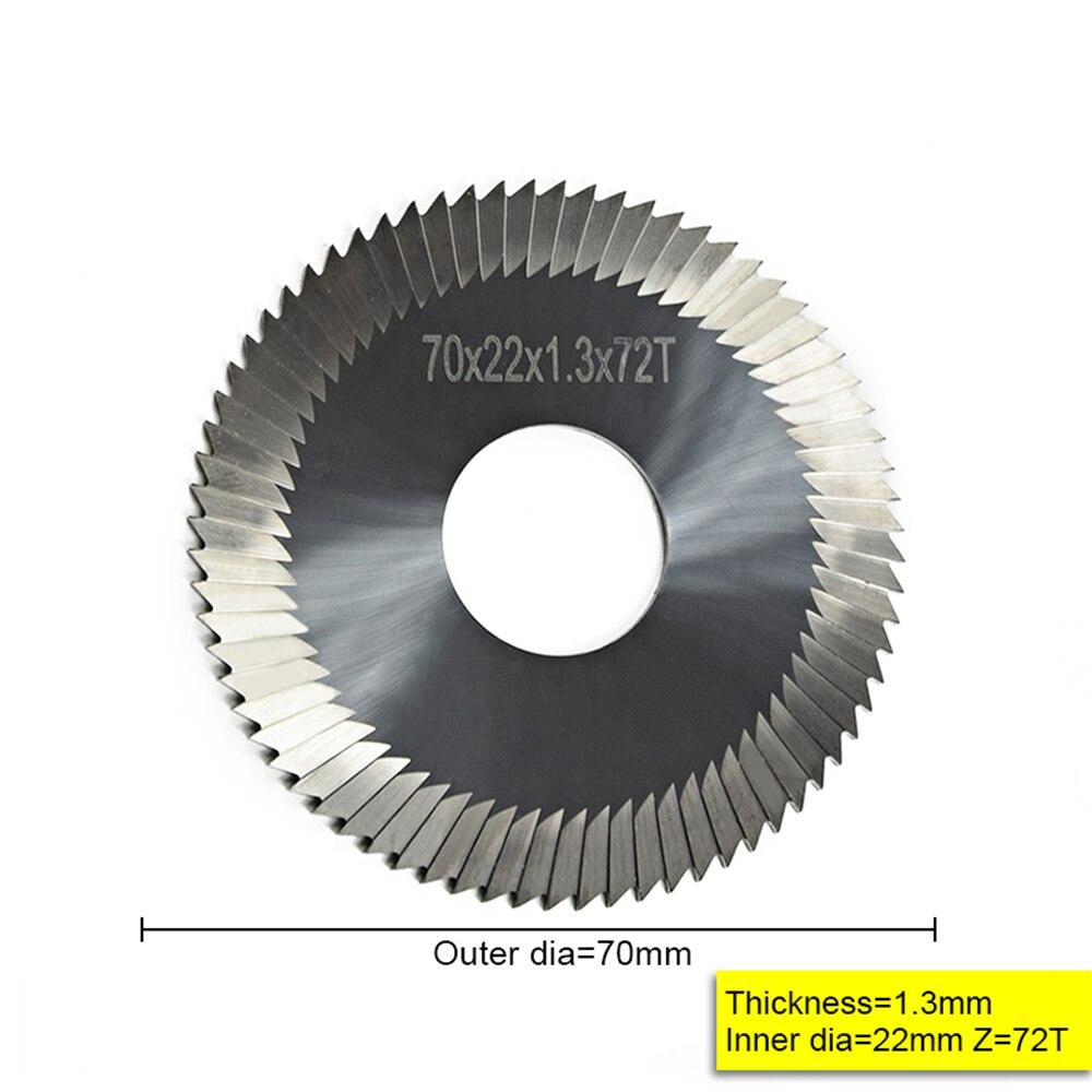 70*22*1.3mm carboneto chave máquina de corte lâmina